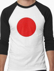 Red Hexagon with Circle Frame T-Shirt