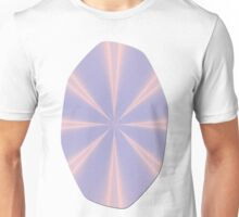 Fractal Pinch in Rose Quartz and Serenity Unisex T-Shirt