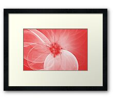 Red Fairy Blossom Fractal Framed Print