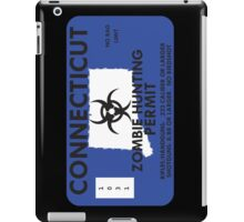 Zombie Hunting Permit - CONNECTICUT iPad Case/Skin