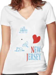 i love new jersey Women's Fitted V-Neck T-Shirt