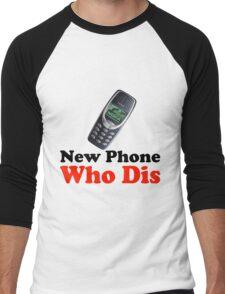 New Phone Who Dis Men's Baseball ¾ T-Shirt