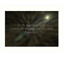 """""""Genesis 1:1"""" by Carter L. Shepard""""  Art Print"""