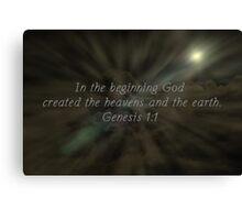 """Genesis 1:1"" by Carter L. Shepard""  Canvas Print"