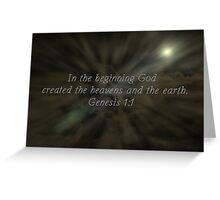 """""""Genesis 1:1"""" by Carter L. Shepard""""  Greeting Card"""