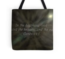 """Genesis 1:1"" by Carter L. Shepard""  Tote Bag"