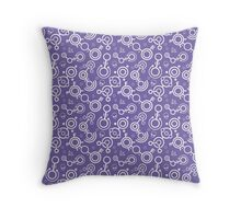 Crop Circles (Purple and White) Throw Pillow