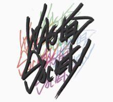Retro Wasted Society Logo Kids Tee