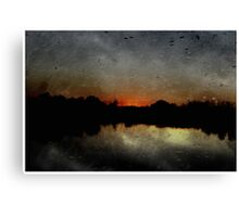 """""""Rustic Sunset"""" by Carter L. Shepard""""  Canvas Print"""