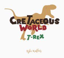 Cretaceous World - T-Rex One Piece - Short Sleeve