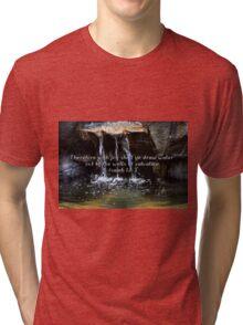 """Isaiah 12:3"" by Carter L. Shepard""  Tri-blend T-Shirt"