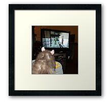 gaming rat Framed Print