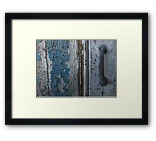 Decayed Doorway Framed Print