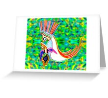 mama baby king birds Greeting Card