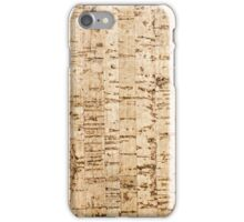 Cork oak pattern iPhone Case/Skin