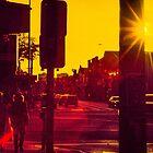 Couple walking on Johnson Street by John Violet