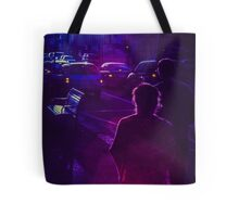 Pedestrians on Johnson Street Tote Bag