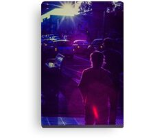 Pedestrians on Johnson Street Canvas Print