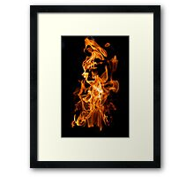 Orange flame Framed Print