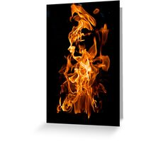 Orange flame Greeting Card