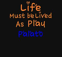 ╚»★Plato's Motivational Quote Clothing & Stickers & Cases & Tote Bags & Home Decor & Stationary★«╝ Women's Fitted V-Neck T-Shirt