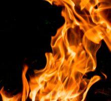 Orange flame Sticker