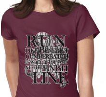 Run like Benedict is waiting for you Womens Fitted T-Shirt