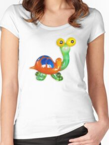 Funny turtle Women's Fitted Scoop T-Shirt