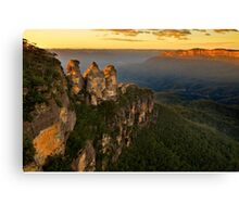 Sunrise in Blue Mountains Canvas Print