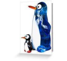 Two penguins Greeting Card
