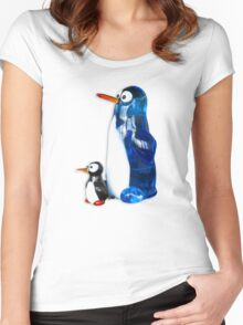 Two penguins Women's Fitted Scoop T-Shirt