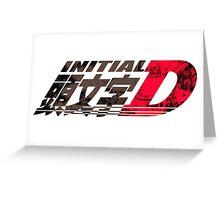 Initial D Greeting Card