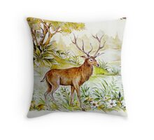 Peaceful forest scene Throw Pillow
