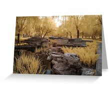 Qingfeng Pond in infra red Greeting Card
