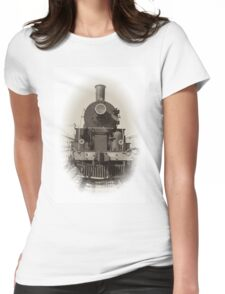 Vintage steam locomotive Womens Fitted T-Shirt