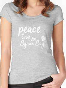 peace, love & Byron Bay Women's Fitted Scoop T-Shirt