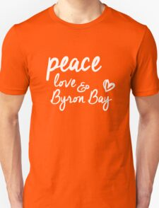 peace, love & Byron Bay Unisex T-Shirt