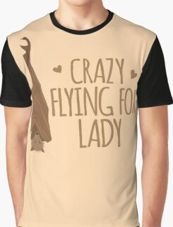 Crazy Flying fox lady Graphic T-Shirt