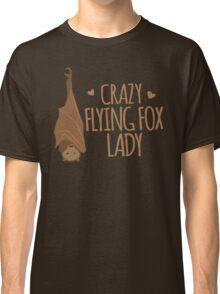 Crazy Flying fox lady Classic T-Shirt