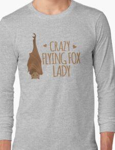 Crazy Flying fox lady Long Sleeve T-Shirt
