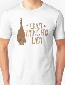 Crazy Flying fox lady Unisex T-Shirt