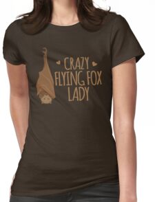 Crazy Flying fox lady Womens Fitted T-Shirt