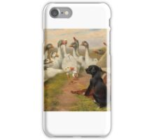 Herbert William Weekes - On Guard. forest,  iPhone Case/Skin