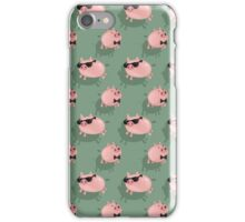 Pigs on green iPhone Case/Skin
