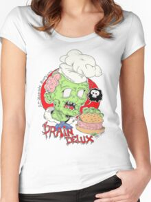 Zombie burgers brain delux Women's Fitted Scoop T-Shirt