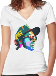 VR46 Women's Fitted V-Neck T-Shirt