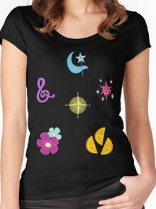 My little Pony - Elements of Harmony Cutie Mark Special V4 (Manehattan 6) Women's Fitted Scoop T-Shirt