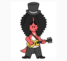 Illustration of an Allosaurus guitar playing dressed like Slash. Unisex T-Shirt