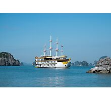 Dragon Legend Boat in Halong Bay Vietnam Photographic Print