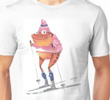 Skiing frog Unisex T-Shirt